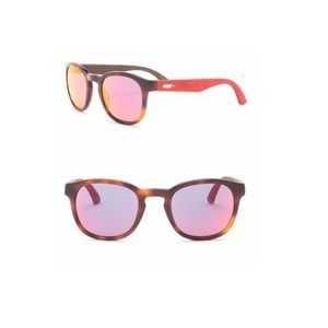 Puma 49mm Rounded Suede Sunglasses